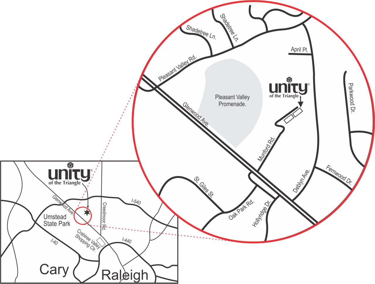 Map to Unity of the Triangle