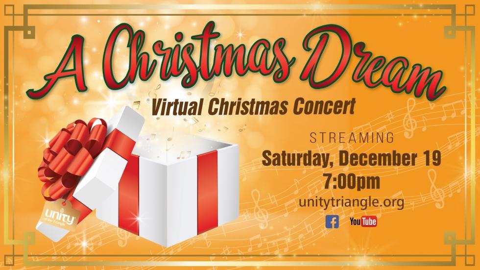 """""""A Christmas Dream"""" A Virtual Christmas Concert"""